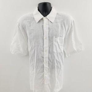 Faconnable buttom down shirt XL Linen E65